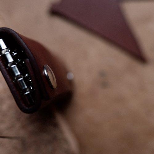 nøglepung læder håndlavet